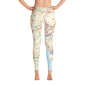 Bus and Rail System Map Leggings - Los Angeles Metro Shop