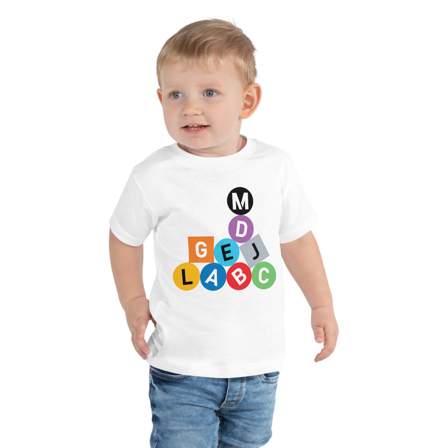 Metro Line Letters Toddler Short Sleeve Tee - Los Angeles Metro Shop