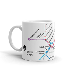 Go Metro Map (Line Letters) Mug - Los Angeles Metro Shop