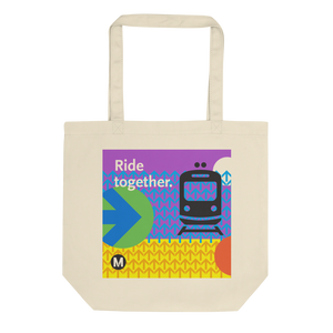Ride Together Cotton Eco Tote Bag - Los Angeles Metro Shop