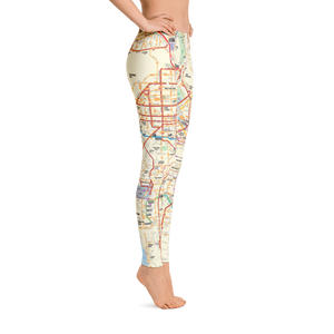 Metro System Map Leggings - Los Angeles Metro Shop