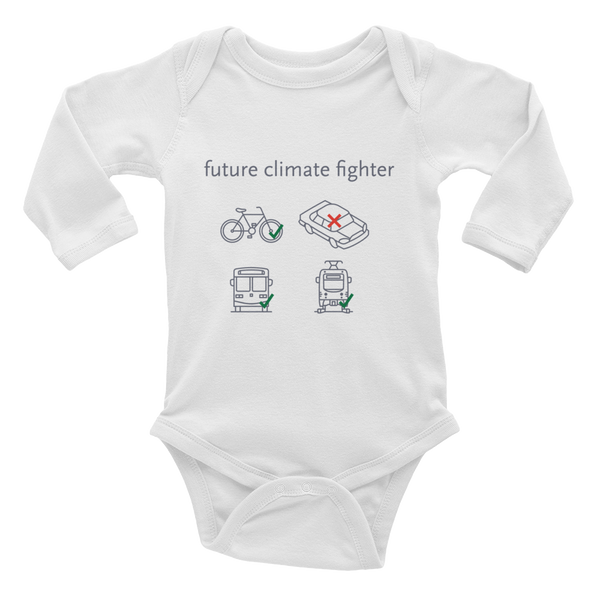 Future Climate Fighter Baby Rib Bodysuit - Los Angeles Metro Shop