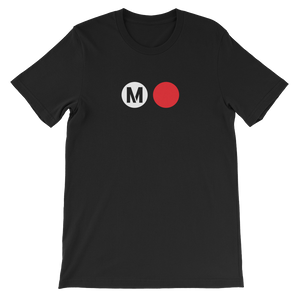 Metro Red Line Circle T-Shirt - Los Angeles Metro Shop