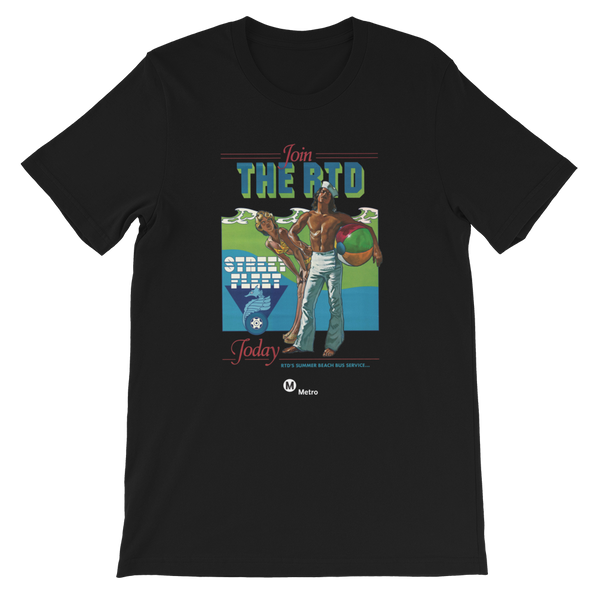 RTD Short-Sleeve Unisex T-Shirt - Los Angeles Metro Shop