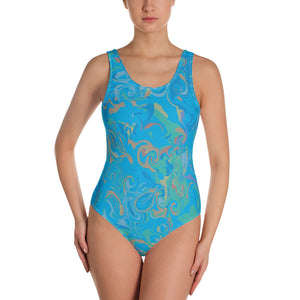 One-Piece Marble Swimsuit - Los Angeles Metro Shop