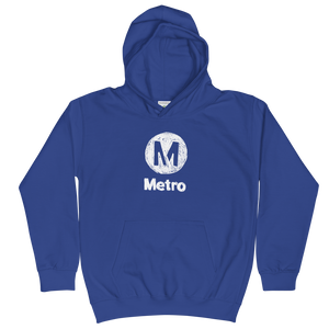 Metro Crayon Logo Kids Hoodie - Los Angeles Metro Shop