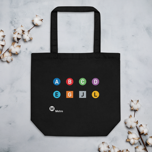 Metro Line Letters Eco Tote Bag - Los Angeles Metro Shop