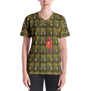 Pineapple Women's V-neck - Los Angeles Metro Shop