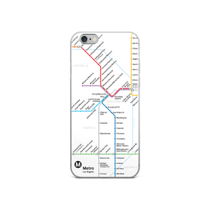 Go Metro Map iPhone Case - Los Angeles Metro Shop
