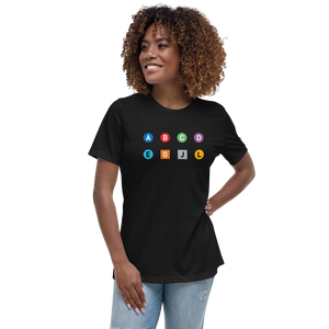 Metro Line Letters Women's Relaxed T-Shirt - Metro Shop