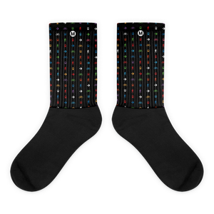 The Movement Iconic Pattern Socks (Black) - Metro Shop