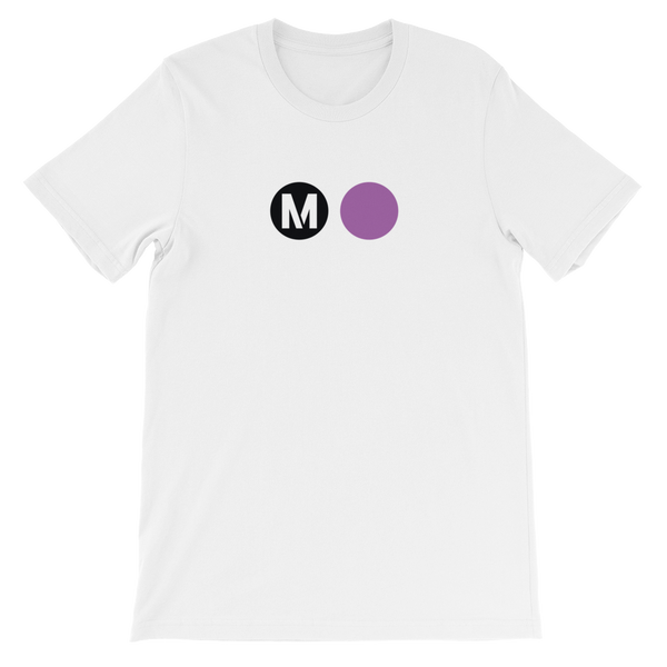 Metro Purple Line Circle T-Shirt (White) - Los Angeles Metro Shop