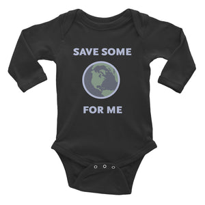 Save Some For Me Black Baby Rib Bodysuit - Los Angeles Metro Shop