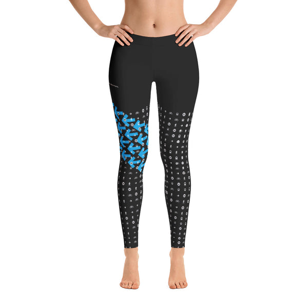 I Am the Movement Leggings (Black/Blue) - Metro Shop