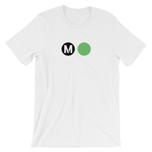 Metro Green Line Circle T-Shirt (White) - Los Angeles Metro Shop