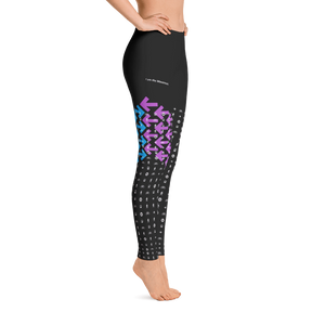 I Am the Movement Leggings (Black/Blue/Purple) - Los Angeles Metro Shop