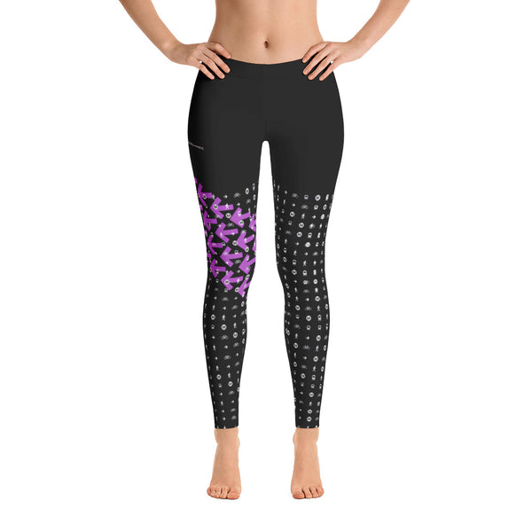 I Am the Movement Leggings (Black/Purple) - Los Angeles Metro Shop