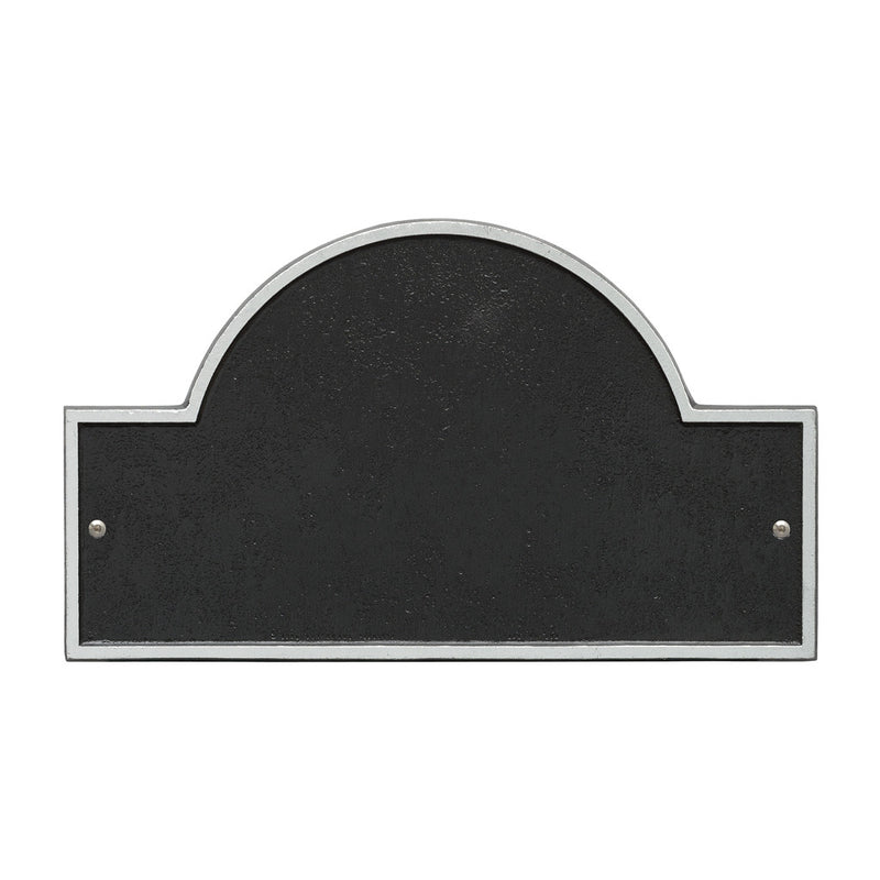 Blank Arched House Number Plaque Black /& Brass
