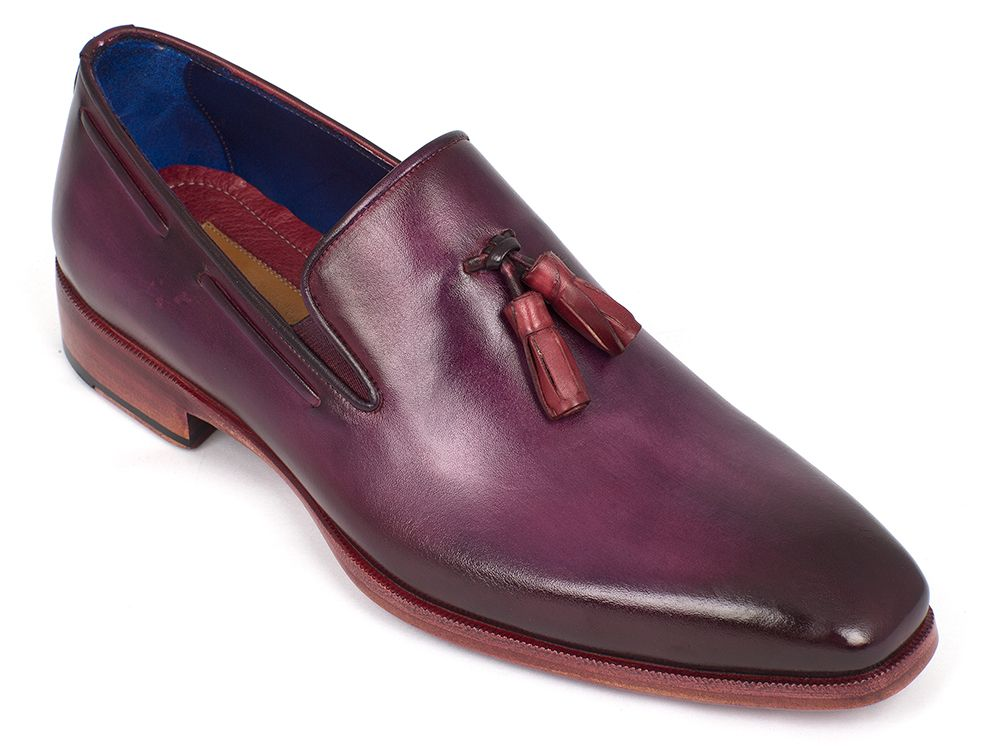 Paul Parkman Men's Tassel Loafer Purple (ID#5141PRP) - mroutfit