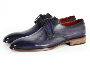Paul Parkman Men's Blue & Navy  Derby Shoes (ID#PP2279) - mroutfit