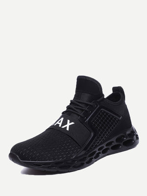 Men's Textured Embossed Mesh Sneakers - mroutfit