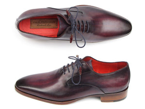 Paul Parkman Men's Plain Toe Oxfords Purple Shoes (ID#019-PURP) - mroutfit