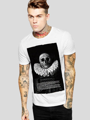 Letter And Skull Print Tee - mroutfit