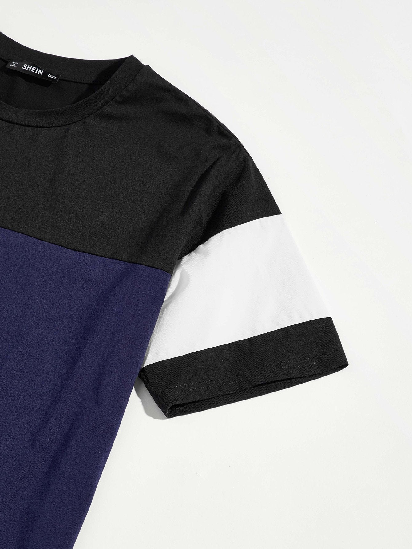 Men Cut and Sew Short Sleeve Tee - mroutfit