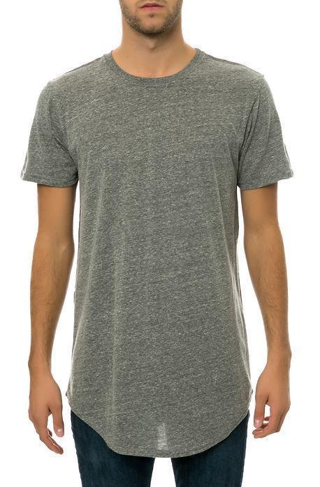 CB Tall Scallop Bottom Tee (Grey) - mroutfit