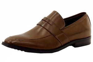 Giorgio Brutini Men's Birch Burnished Tan Dressy Loafers Shoes Sz. 7.5 - mroutfit