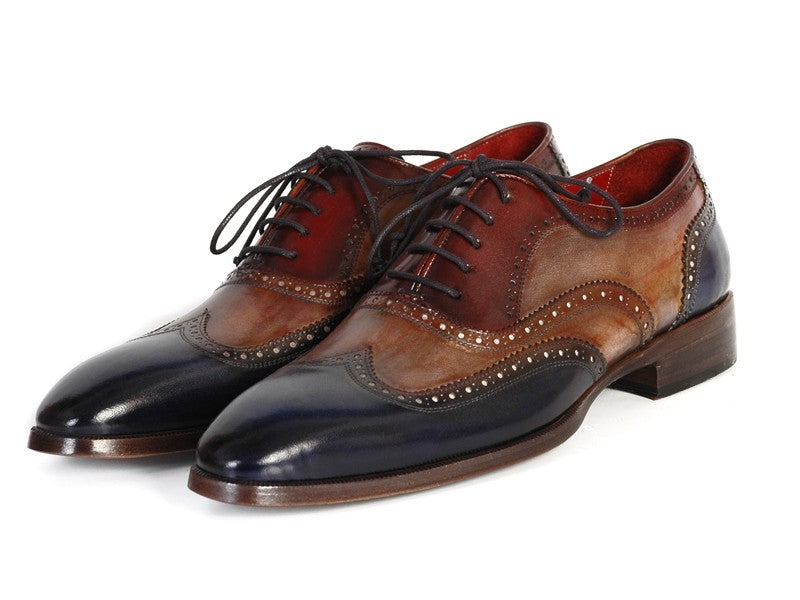 Paul Parkman Men's Three Tone Wingtip Oxfords (ID#PP2278) - mroutfit