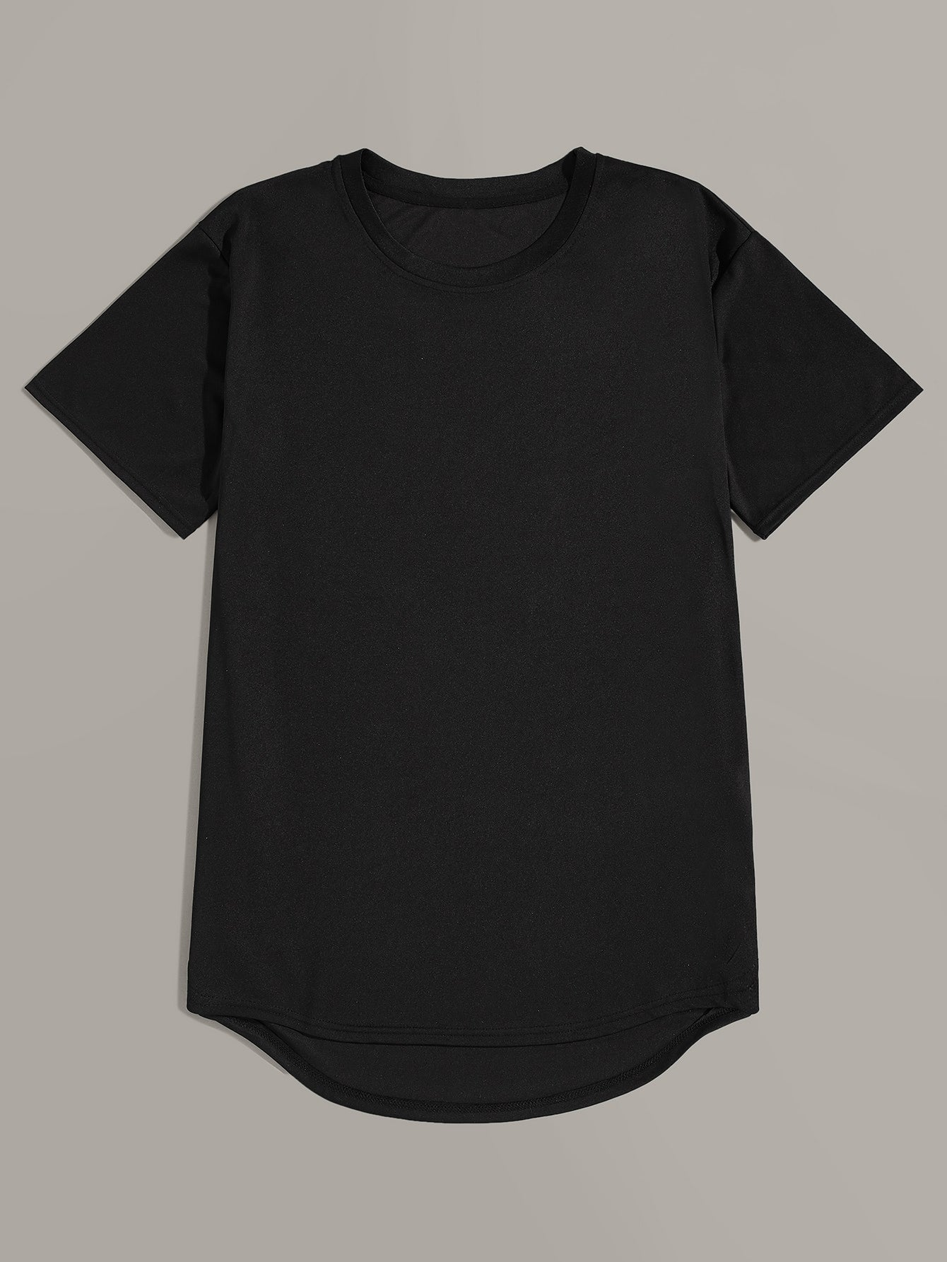 Men Dip Hem Solid Basics Tee 2pcs - mroutfit