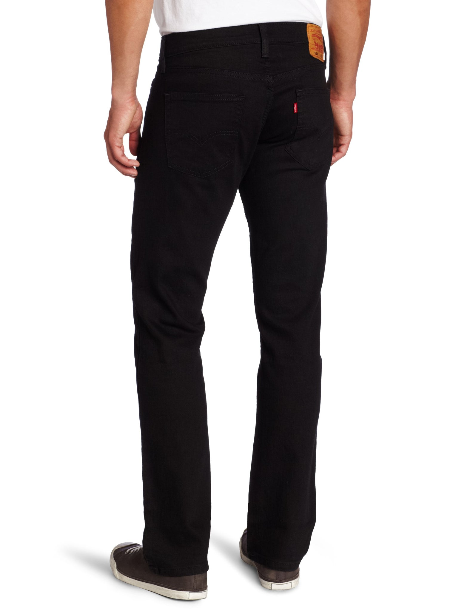 Levi's Men's 514 Straight fit Stretch Jean,  Black, 34x29 - mroutfit