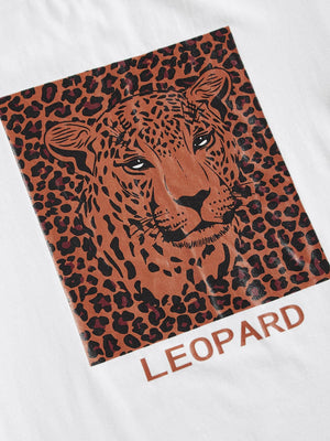 Leopard & Letter Print Tee - mroutfit