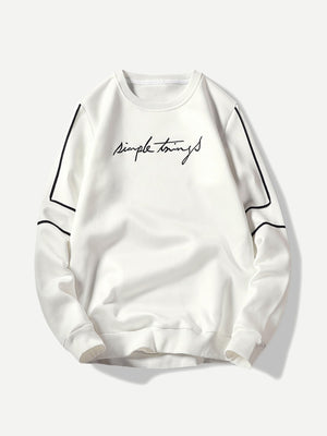 Simple Things Embroidery Sweatshirt - mroutfit