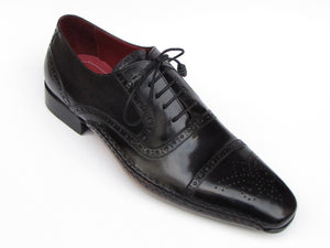 Paul Parkman Men's Captoe Oxfords Black Shoes (ID#5032-BLK) - mroutfit