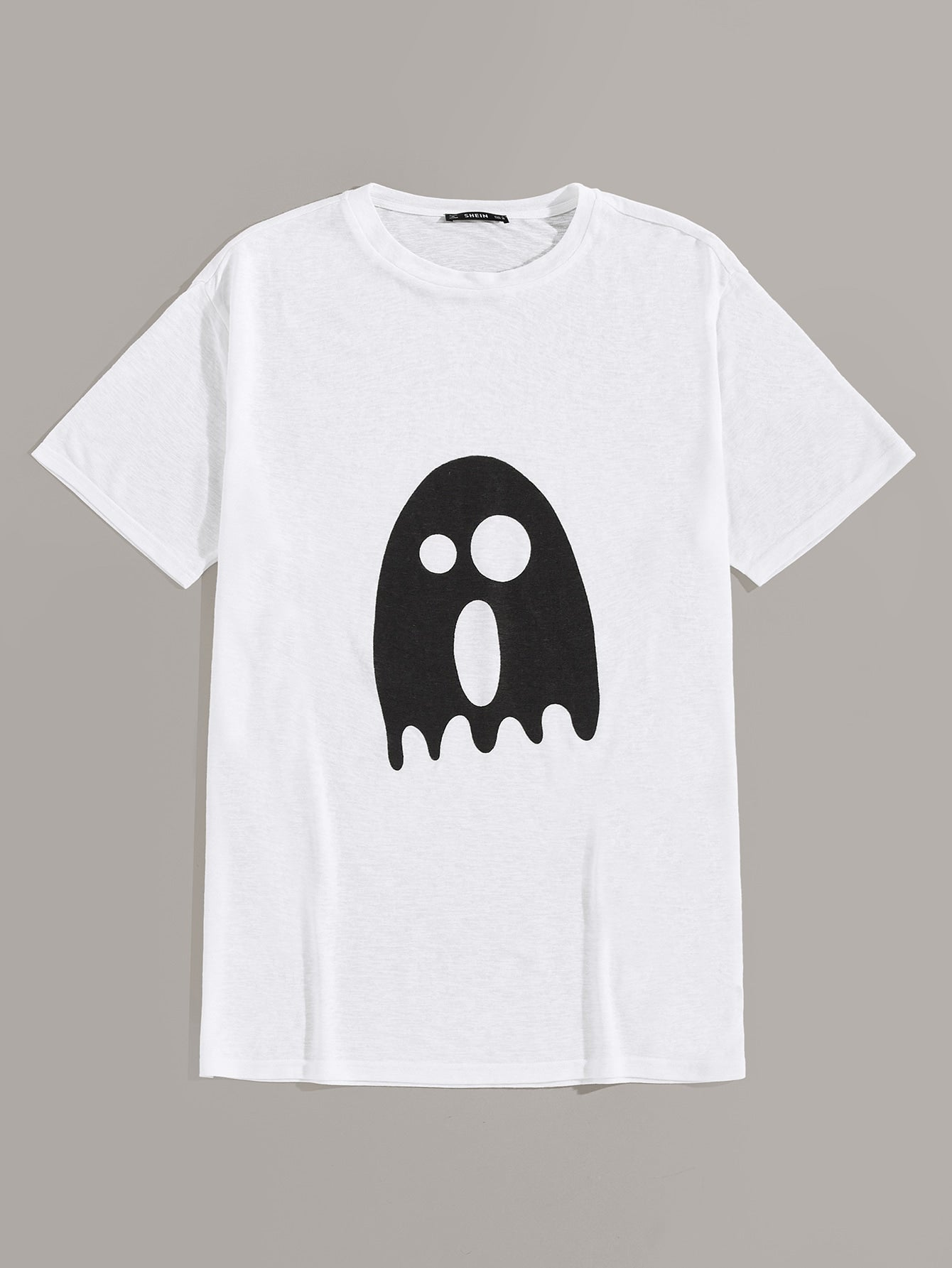 Men Ghost Cartoon Print Tee - mroutfit