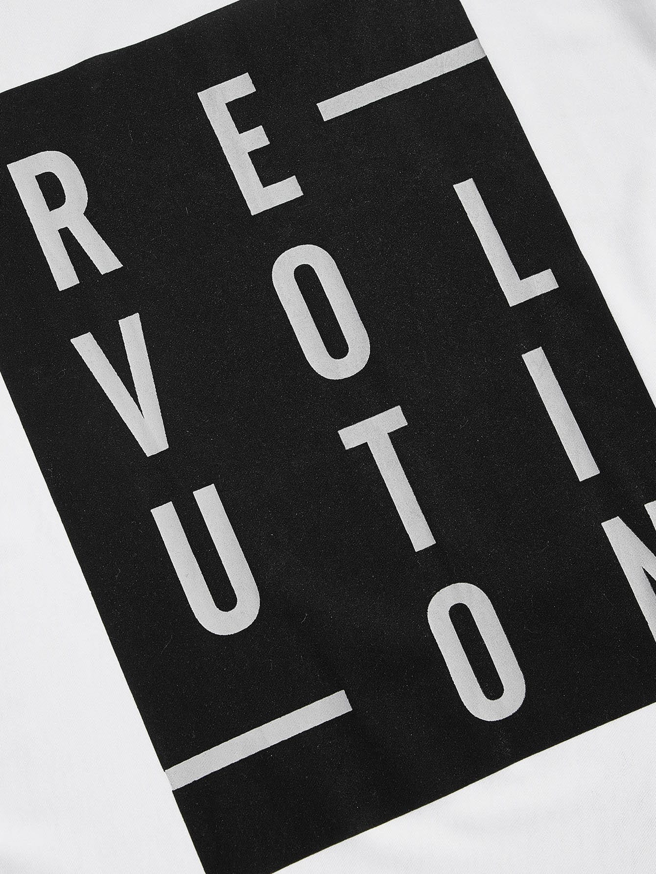 Revolution Letter Print Tank Top - mroutfit