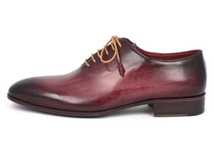 Paul Parkman Men's Burgundy Wholecut Plain Toe Oxfords (ID#DS65BUR) - mroutfit