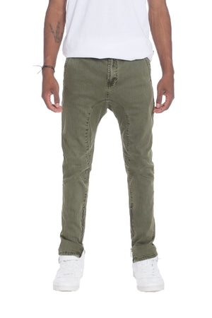 STRETCH DENIM- OLIVE - mroutfit