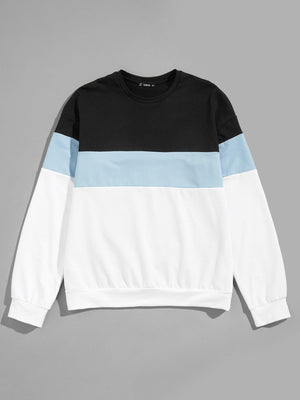 Men Color-Block Pullover - mroutfit