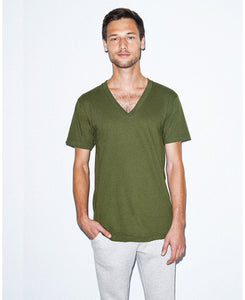 American Apparel Unisex Fine Jersey V-Neck Tee