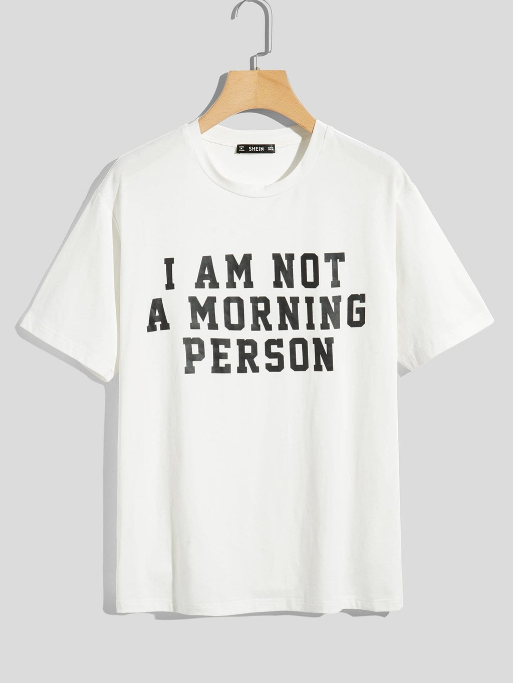 Not a Morning Person Letter Print T-shirt - mroutfit