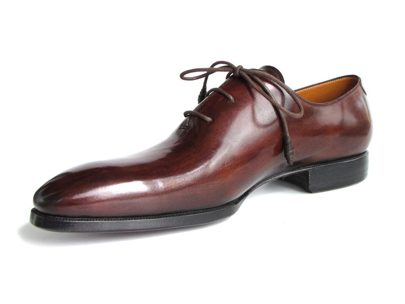 Paul Parkman Men's Oxford Dress Shoes Brown&Bordeaux (ID#22T55) - mroutfit