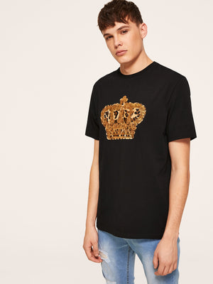 Men Sequin Embellished Leopard Tee - mroutfit