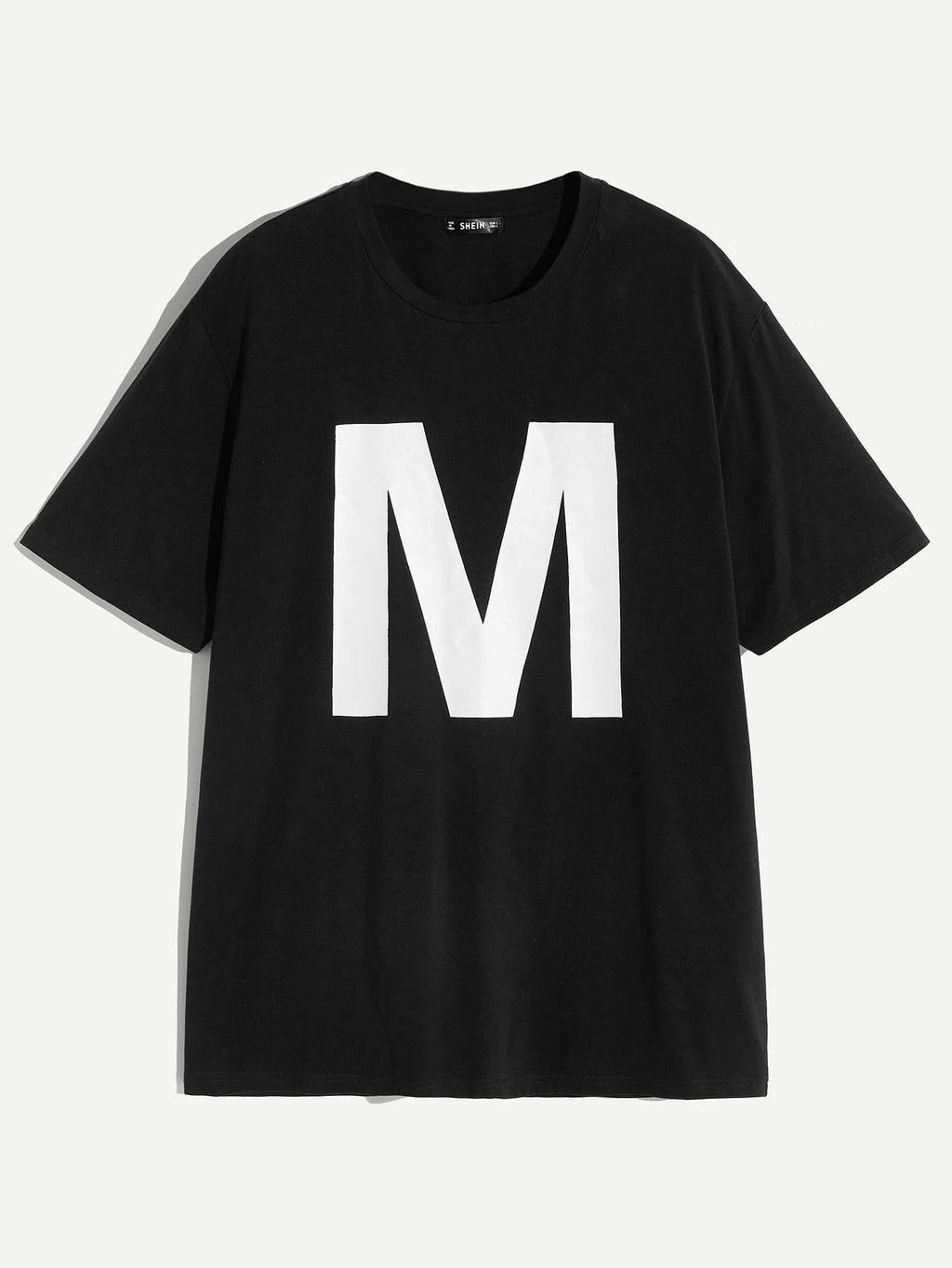 M Letter Print Tee - mroutfit