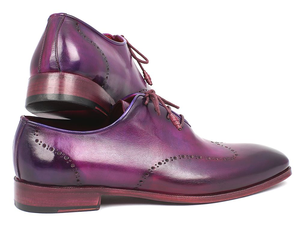 Paul Parkman Men's Purple Wingtip Oxfords (ID#84HT12) - mroutfit