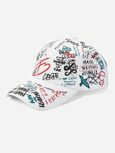 Men Graffiti Pattern Baseball Cap - mroutfit