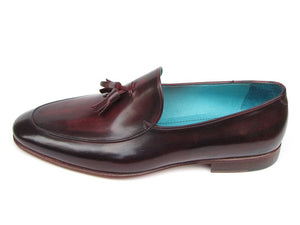 Paul Parkman Men's Tassel Loafer Black & Purple Shoes (ID#049-BLK-PURP) - mroutfit