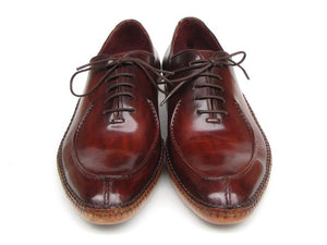 Paul Parkman Men's Side Handsewn Split-toe Burgundy Oxfords (ID#054-BUR) - mroutfit